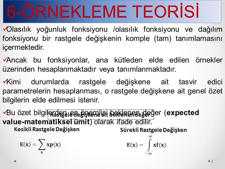 6-ÖRNEKLEME TEORİSİ 4.