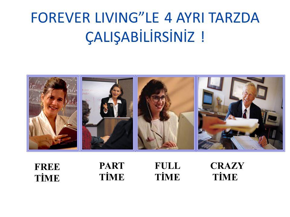 "FOREVER LIVING""LE 4 AYRI TARZDA ÇALIŞABİLİRSİNİZ ! FREE TİME PART TİME FULL TİME CRAZY TİME"