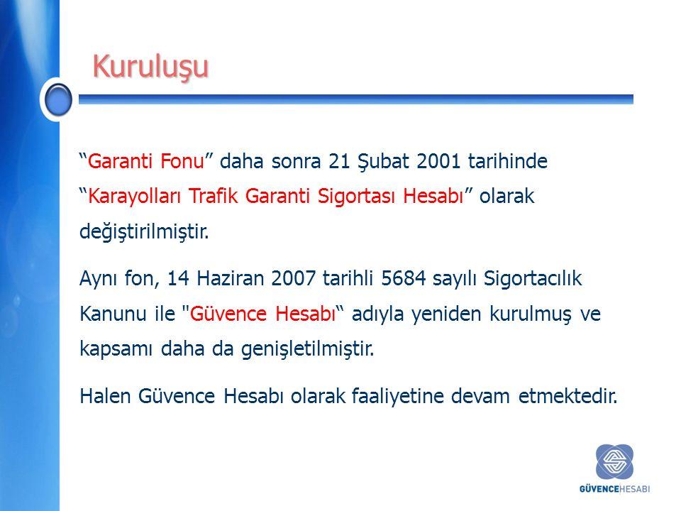 Garanti Fonu daha sonra 21 Şubat 2001 tarihinde Karayolları Trafik Garanti Sigortası Hesabı olarak değiştirilmiştir.