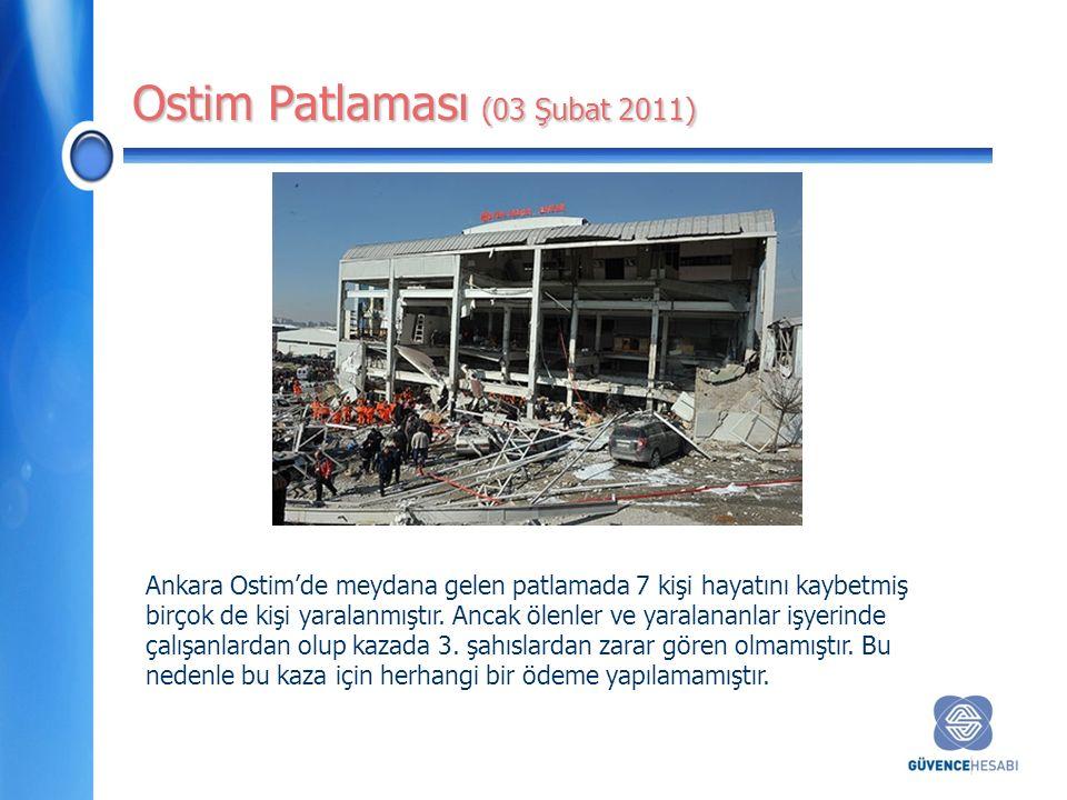 Ostim Patlaması (03 Şubat 2011) Ankara Ostim'de meydana gelen patlamada 7 kişi hayatını kaybetmiş birçok de kişi yaralanmıştır.