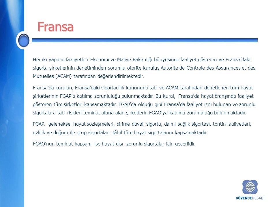 Her iki yapının faaliyetleri Ekonomi ve Maliye Bakanlığı bünyesinde faaliyet gösteren ve Fransa'daki sigorta şirketlerinin denetiminden sorumlu otorite kuruluş Autorite de Controle des Assurances et des Mutuelles (ACAM) tarafından değerlendirilmektedir.