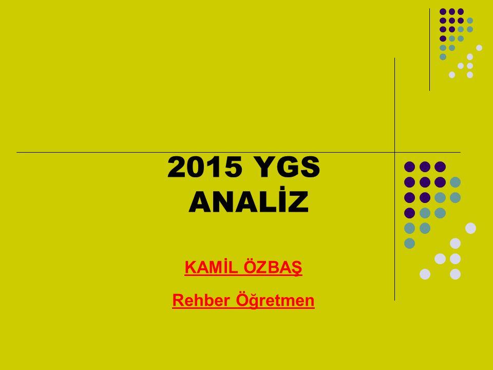 2015 YGS ANALİZ KAMİL ÖZBAŞ Rehber Öğretmen