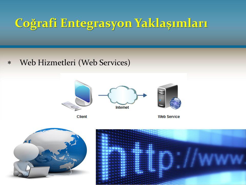 Coğrafi Entegrasyon Yaklaşımları  Web Hizmetleri (Web Services)