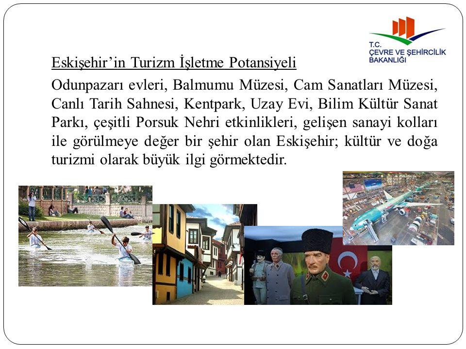 Eskişehir'in Turizm İşletme Potansiyeli Odunpazarı evleri, Balmumu Müzesi, Cam Sanatları Müzesi, Canlı Tarih Sahnesi, Kentpark, Uzay Evi, Bilim Kültür