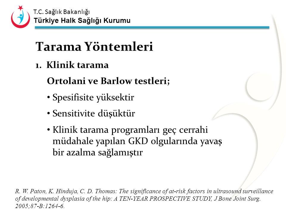 T.C. Sağlık Bakanlığı Türkiye Halk Sağlığı Kurumu Gelişimsel Kalça Displazisi en uygun zaman ve biçimde tedavi edilmediğinde kişisel ve toplumsal bir