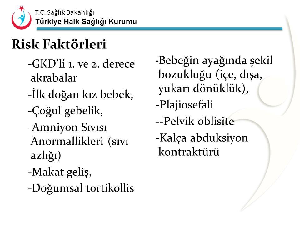 T.C. Sağlık Bakanlığı Türkiye Halk Sağlığı Kurumu Ultrasonla Nasıl Tarama Yapılmalı ? Evrensel tarama; Tüm yenidoğanların GKD açısından USG ile taranm
