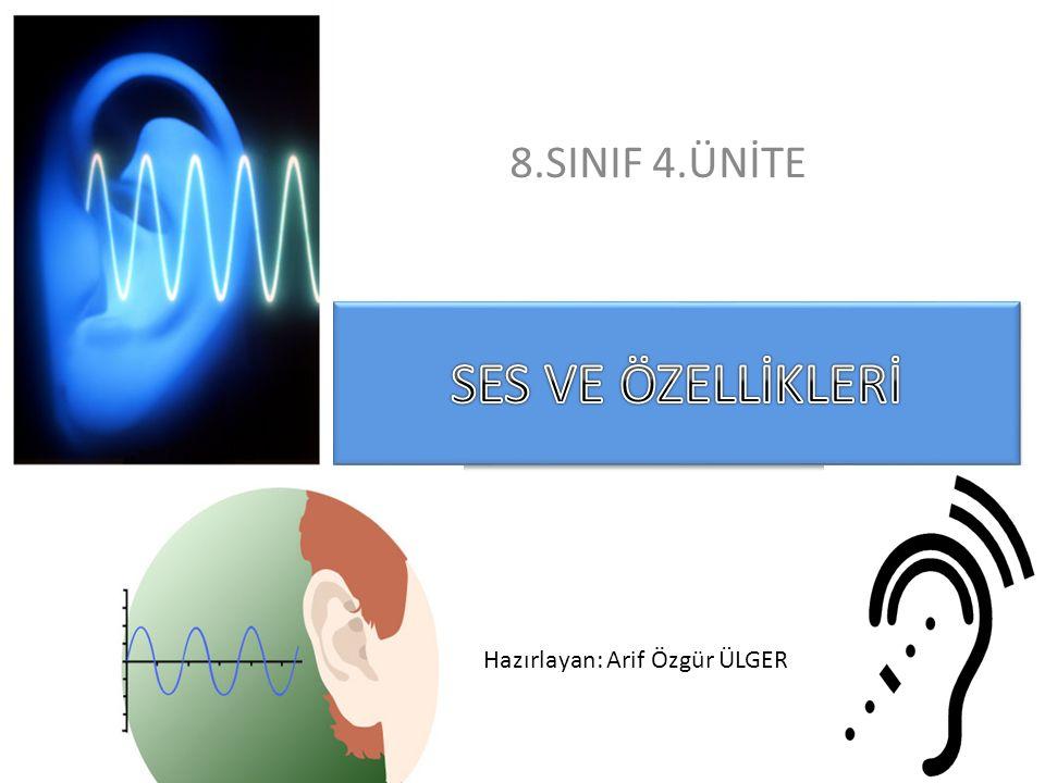 SES Katı, sıvı ve gaz halindeki maddelerin oluşturduğu maddesel (tanecikli) ortamlarda dalga şeklinde yayılabilen enerji türüne ses denir.