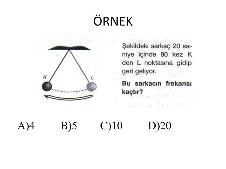 ÖRNEK A)4 B)5 C)10 D)20
