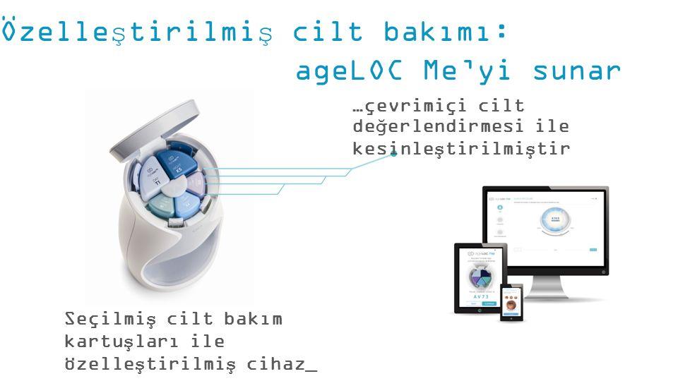 Özelleştirilmiş cilt bakımı: ageLOC Me'yi sunar Seçilmiş cilt bakım kartuşları ile özelleştirilmiş cihaz_ …çevrimiçi cilt değerlendirmesi ile kesinleştirilmiştir