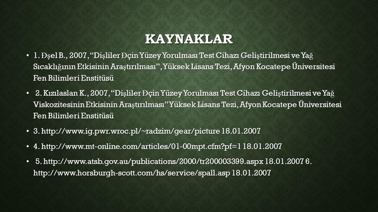 KAYNAKLAR 1.