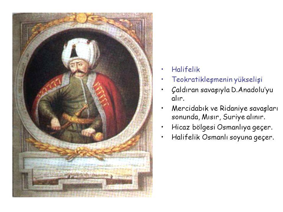 SULTAN I.SELİM (YAVUZ) 1512-1520