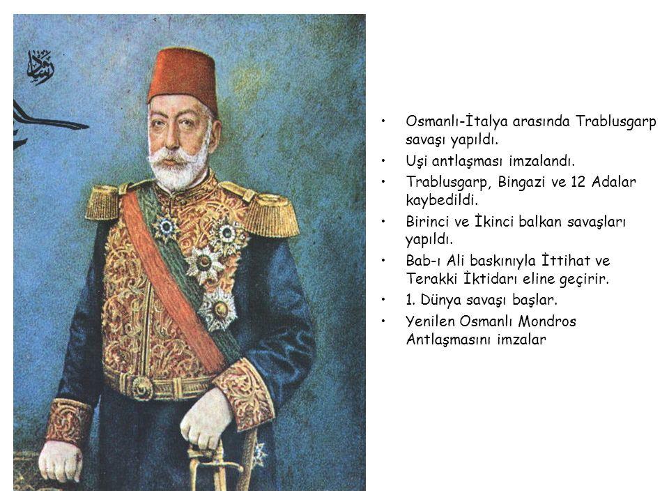 V. MEHMET REŞAT 1909-1918