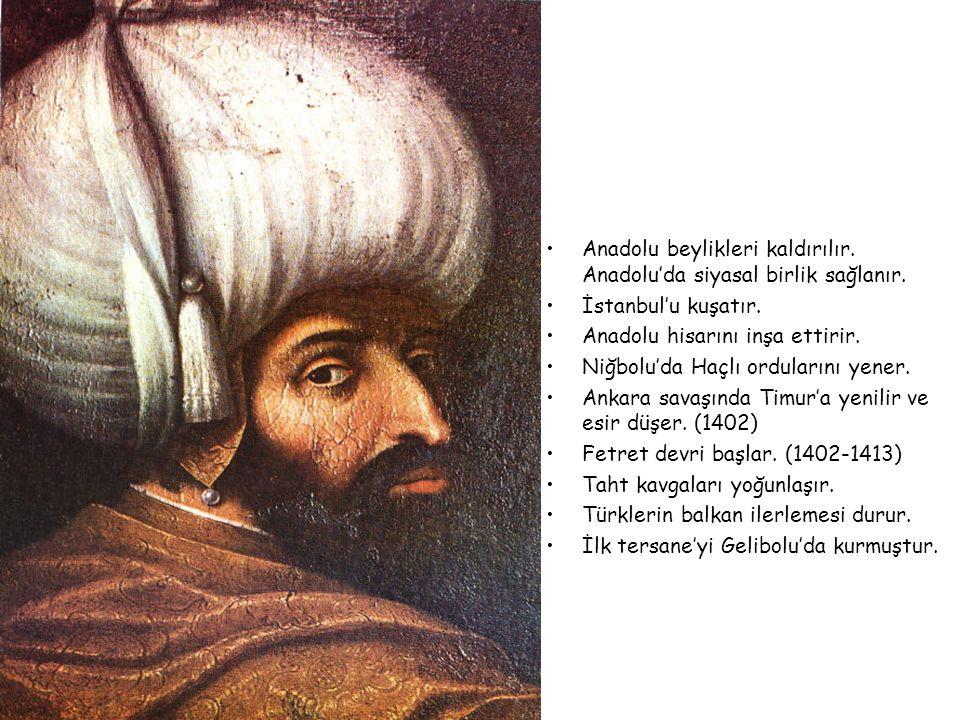 I.BEYAZID (YILDIRIM) 1389-1402