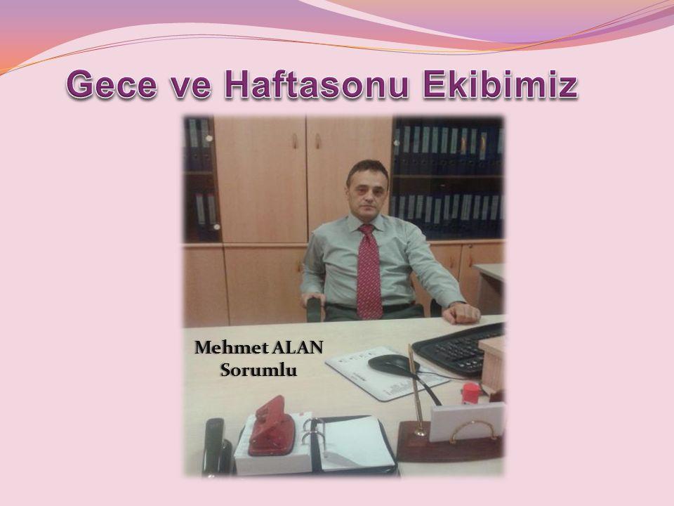 Mehmet ALANMehmet ALANSorumlu