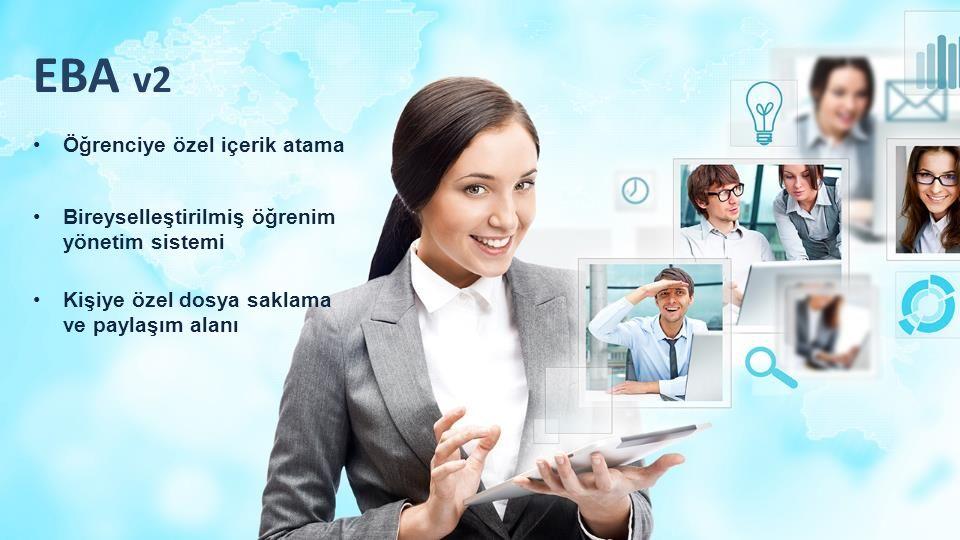 EBA v2 Öğrenciye özel içerik atama Kişiye özel dosya saklama ve paylaşım alanı Bireyselleştirilmiş öğrenim yönetim sistemi