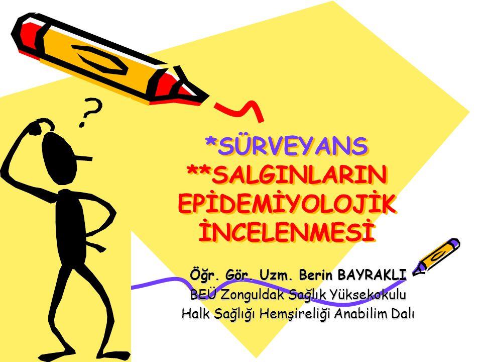 Aktif surveyans Surveyans sisteminde bildirim yapmakla yükümlü kişi veya birimlerin kendiliğinden rapor etmesini beklemeksizin, yetkili birimlerce düzenli olarak verilerin toplanmasıdır.