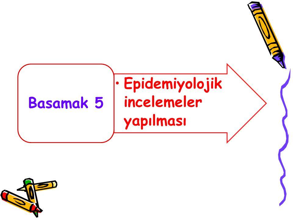 Epidemiyolojik incelemeler yapılması Basamak 5