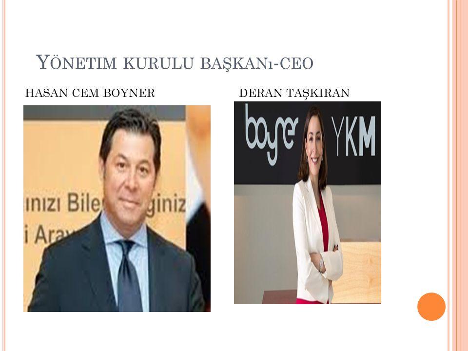 Y ÖNETIM KURULU BAŞKANı - CEO DERAN TAŞKIRANHASAN CEM BOYNER
