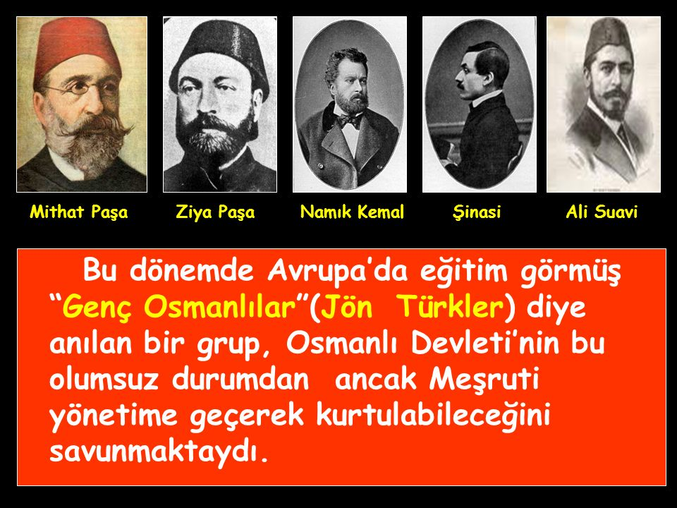 19. yüzyıl Osmanlı'da azınlık ayaklanmalarının arttığı ve Avrupalı devletlerin Osmanlı'yı kapitülasyonlar sayesinde sömürgeleştirmeye çalıştığı bir dö