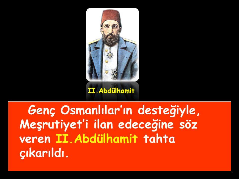 """Bu dönemde Avrupa'da eğitim görmüş """"Genç Osmanlılar""""(Jön Türkler) diye anılan bir grup, Osmanlı Devleti'nin bu olumsuz durumdan ancak Meşruti yönetime"""