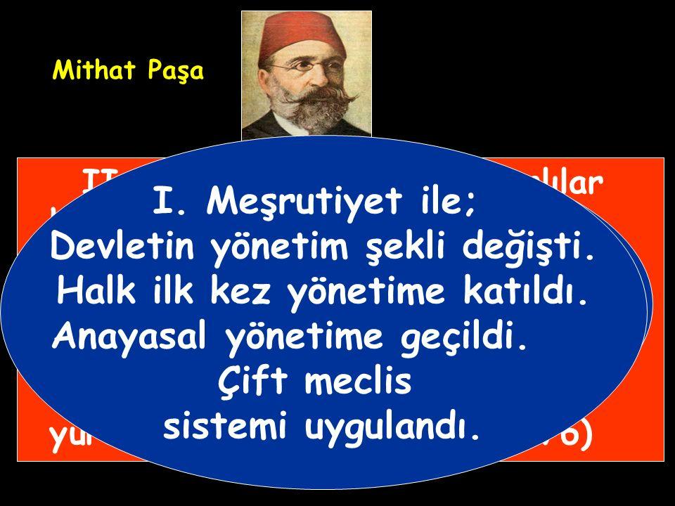 Genç Osmanlılar'ın desteğiyle, Meşrutiyet'i ilan edeceğine söz veren II.Abdülhamit tahta çıkarıldı. II.Abdülhamit