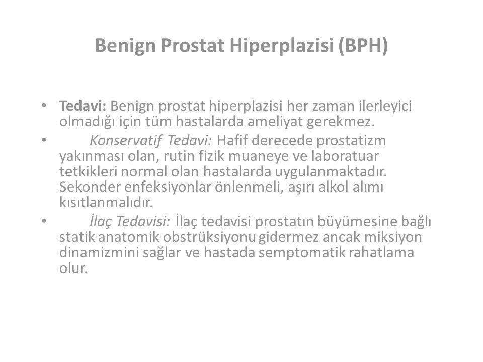 Benign Prostat Hiperplazisi (BPH) Tedavi: Benign prostat hiperplazisi her zaman ilerleyici olmadığı için tüm hastalarda ameliyat gerekmez.