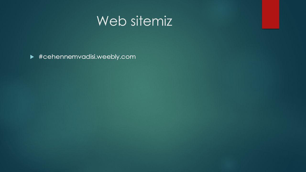 Web sitemiz  #cehennemvadisi.weebly.com