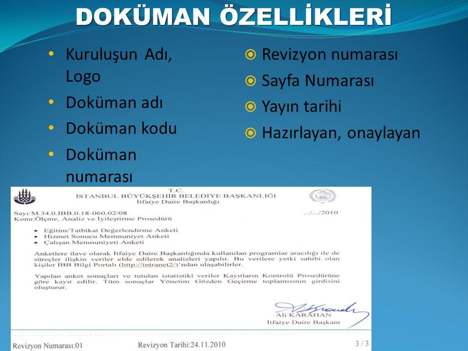 1)Dokümanların Kontrolü Prosedürü 2)Kayıtların Kontrolü Prosedürü 3)Kuruluş İçi Denetim Prosedürü 4)Uygun Olmayan Ürün/Hizmetin Değerlendirilmesinin Kontrolü Prosedürü 5)Düzeltici Faaliyet Prosedürü 6)Önleyici Faaliyet Prosedürü