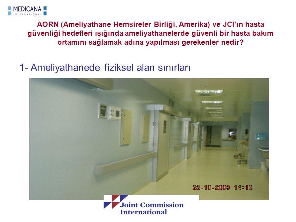 AORN (Ameliyathane Hemşireler Birliği, Amerika) ve JCI'ın hasta güvenliği hedefleri ışığında ameliyathanelerde güvenli bir hasta bakım ortamını sağlam