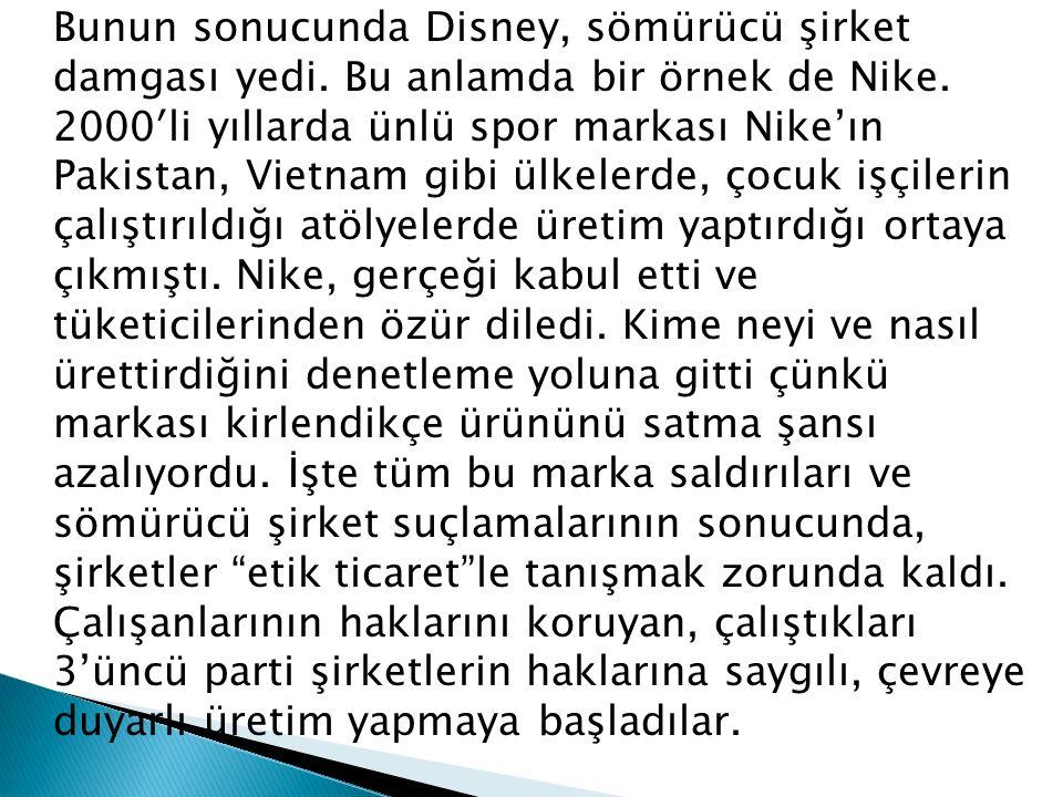 Bunun sonucunda Disney, sömürücü şirket damgası yedi.