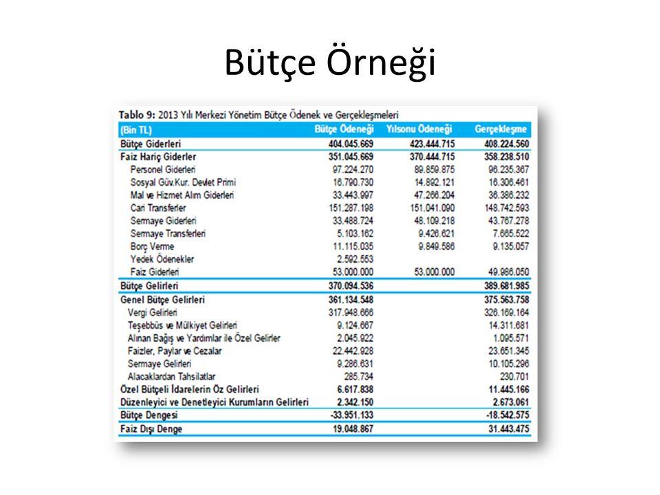Bütçe Örneği