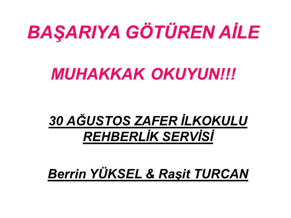BAŞARIYA GÖTÜREN AİLE MUHAKKAK OKUYUN!!.