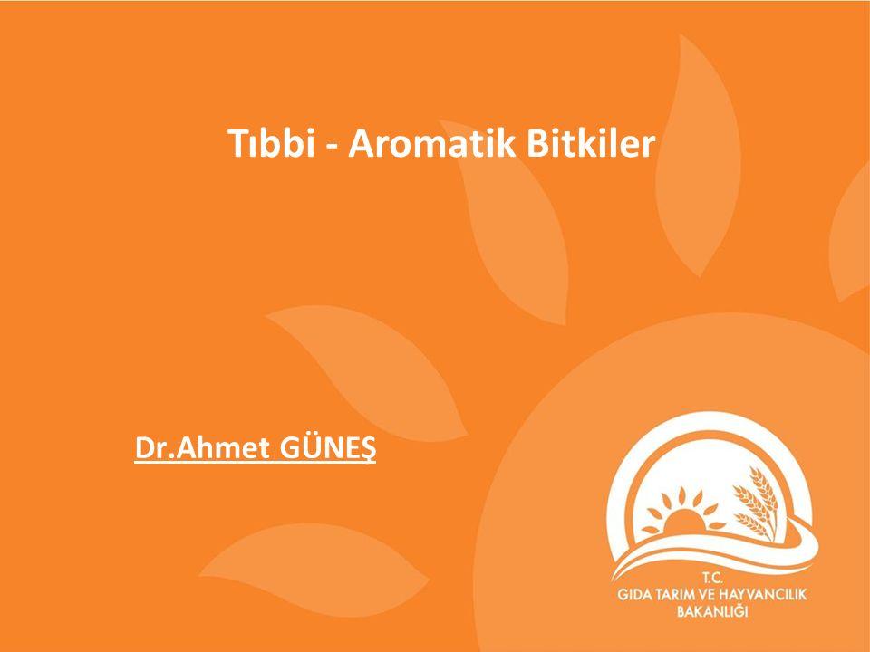 Tıbbi - Aromatik Bitkiler Dr.Ahmet GÜNEŞ