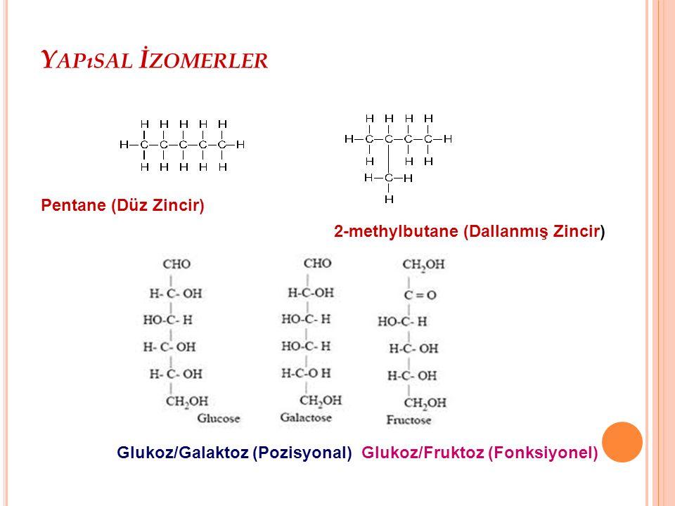 S TEREO İ ZOMERLER I Geometrik izomerlerin erime noktası gibi fiziksel özellikleri tamamen farklı, kimyasal özellikleri ise benzerdir.