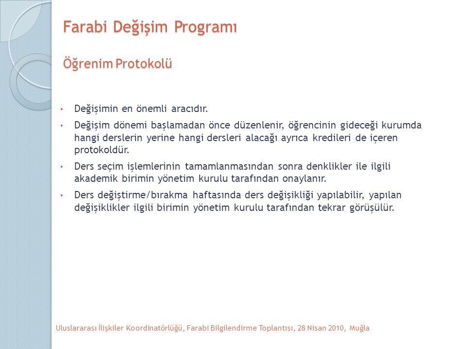 Farabi Değişim Programı Öğrenim Protokolü Değişimin en önemli aracıdır.