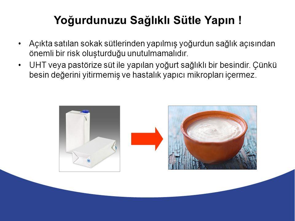 Yoğurdunuzu Sağlıklı Sütle Yapın .