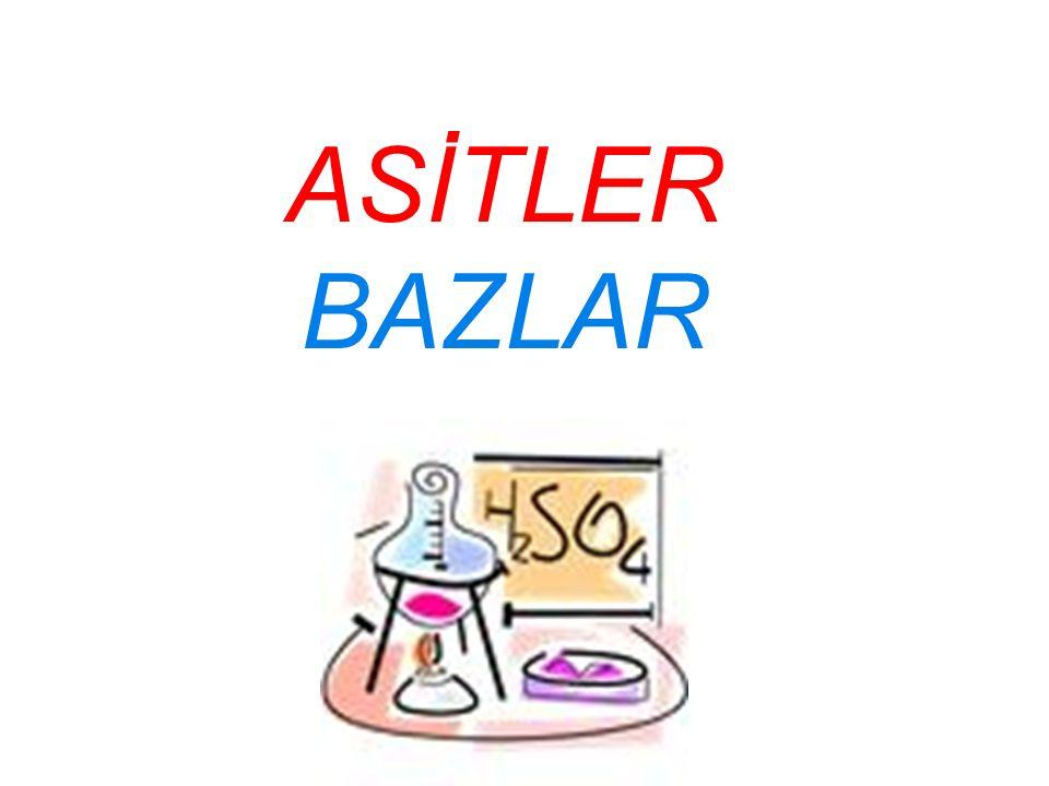 Asitler ve bazların eşya ve malzemeler üzerinde olumsuz etkileri bulunmaktadır.