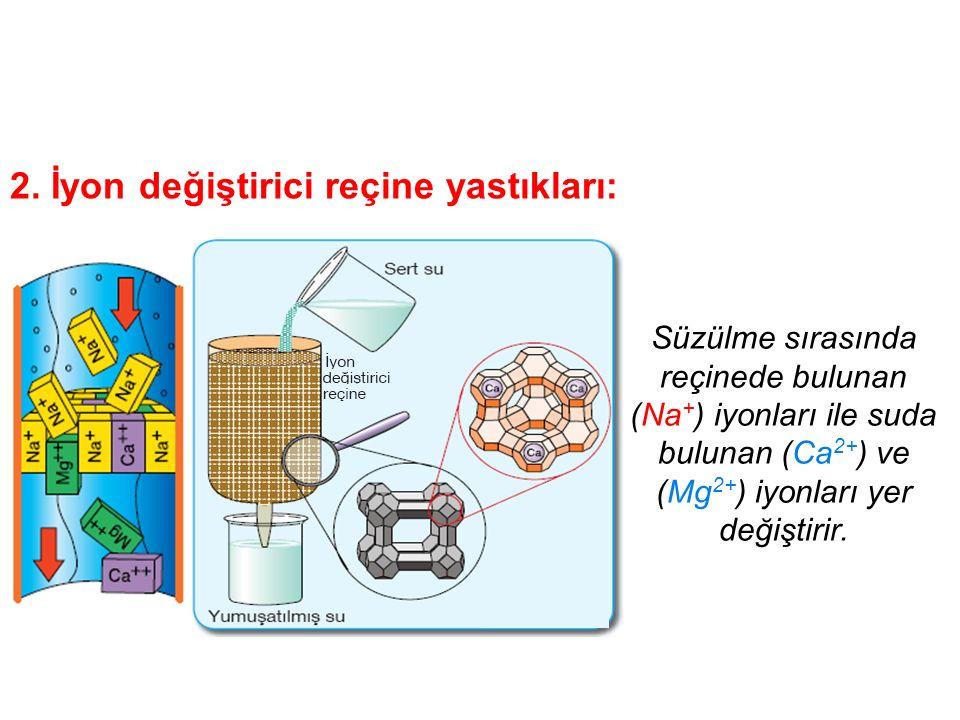 Suların sertliği nasıl giderilir? 1. Suların kaynatılması : Ca 2+ + CO 3 2- + ısı suda CaCO 3 + yumuşatılmış su (çöker)