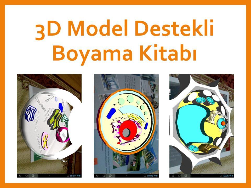 3D Model Destekli Boyama Kitabı 18