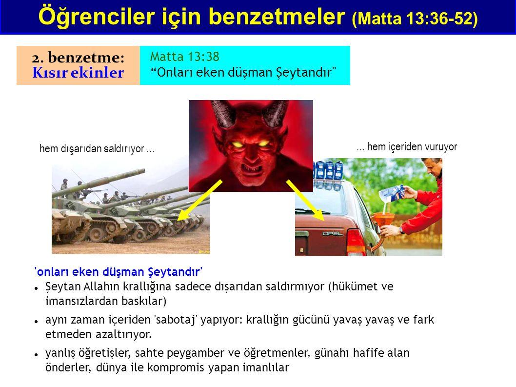 """Matta 13:38 """"Onları eken düşman Şeytandır"""