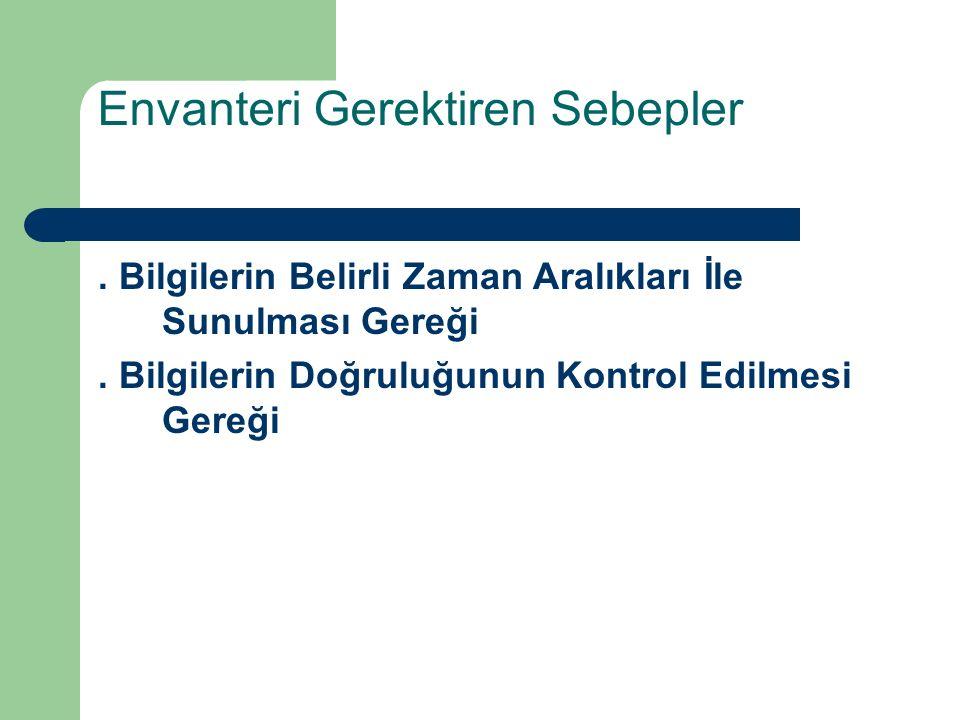Muhasebe Dışı Envanter İşlemlerine İlişkin Örnekler – Hesap mutabakatı sağlama ve hataların tespiti, – TL.