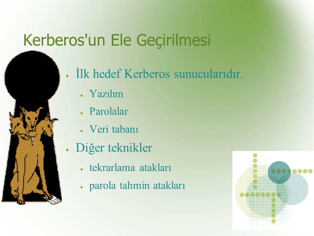 Kerberos un Ele Geçirilmesi ● İlk hedef Kerberos sunucularıdır.