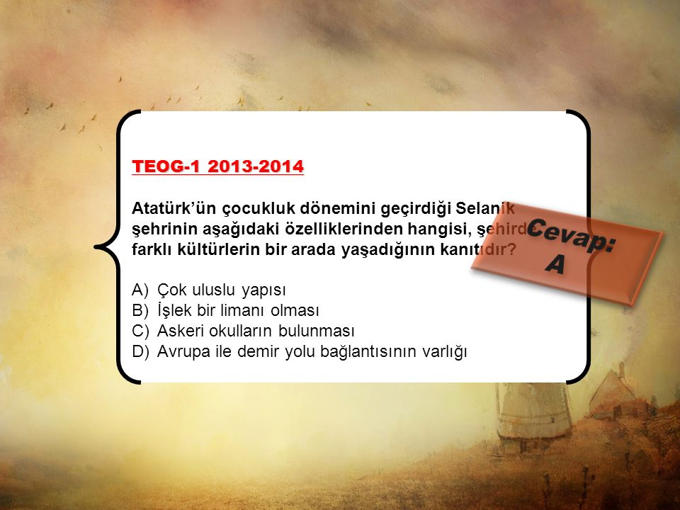 TEOG-1 2013-2014 Bakanlar'da ortaya çıkan ayrılıkçı fikirler, Osmanlı aydınları arasında yeni anlayışlara neden oldu. Fransız İhtilali'nin etkilerini