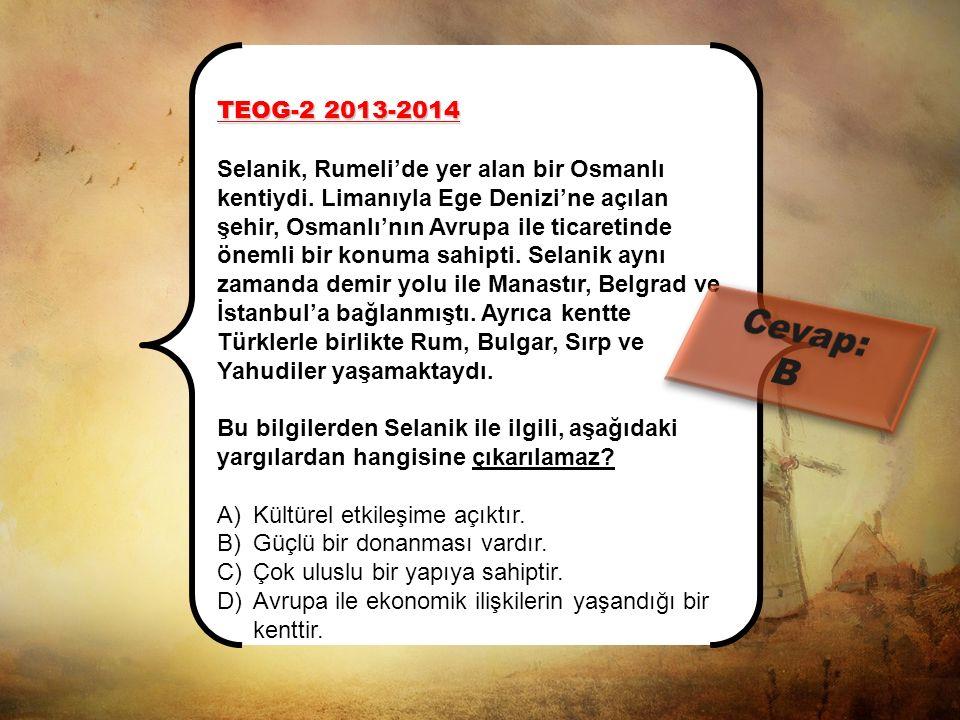 """TEOG-1 2013-2014 MAZERET """"Selanik şehrinin çeşitli din ve milliyetten oluşan nüfus yapısı, Mustafa Kemal'in........................ etkili olmuştur."""""""