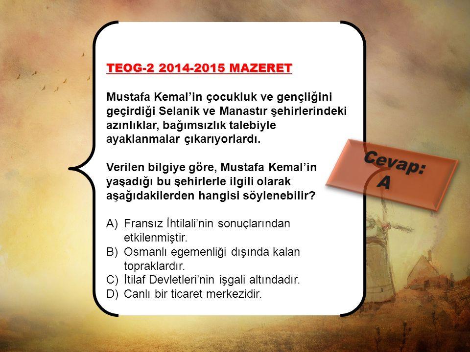 TEOG-1 2014-2015 MAZERET