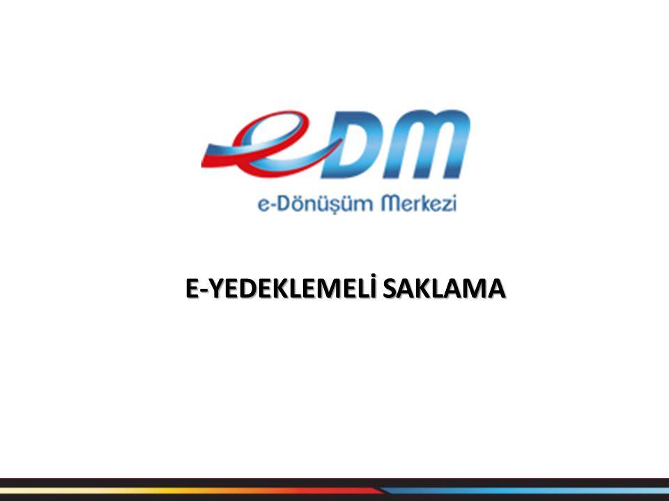 E-Yedeklemeli Saklama E-Faturalarınız ve e-arşiv faturalarınız EDM e-fatura sistemine kaydolmanız ile beraber sistem üzerinden 10 yıl boyunca İstanbul ve Ankara yedeklemeli saklama hizmetini ücretsiz almaktasınız.