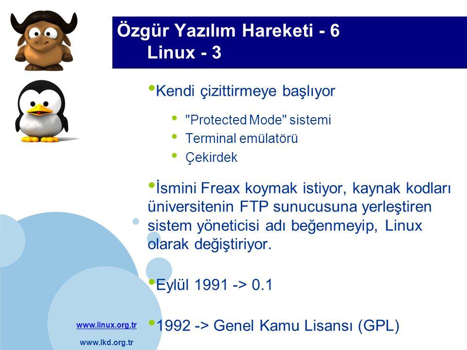 www.linux.org.tr www.lkd.org.tr Company LOGO Özgür Yazılım Hareketi - 6 Linux - 3 Kendi çizittirmeye başlıyor