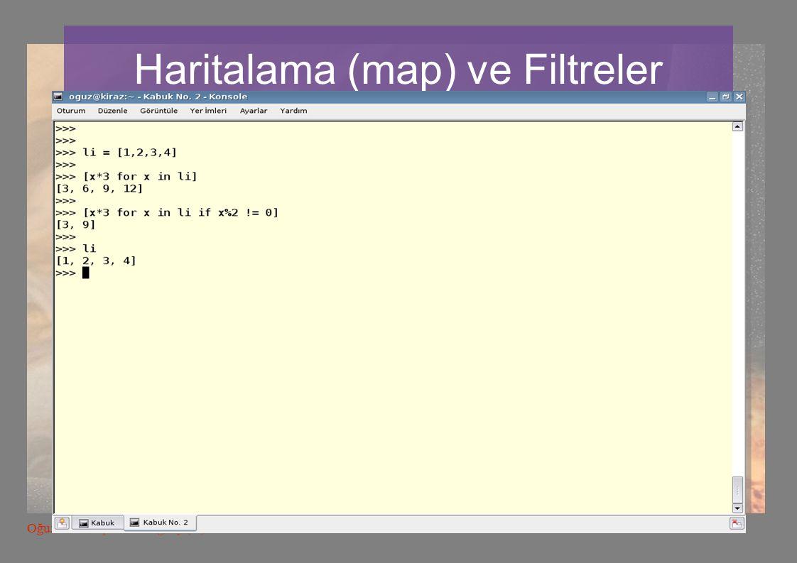 53 Oğuz Yarımtepe LKD oguzy (at) comu.edu.tr Haritalama (map) ve Filtreler