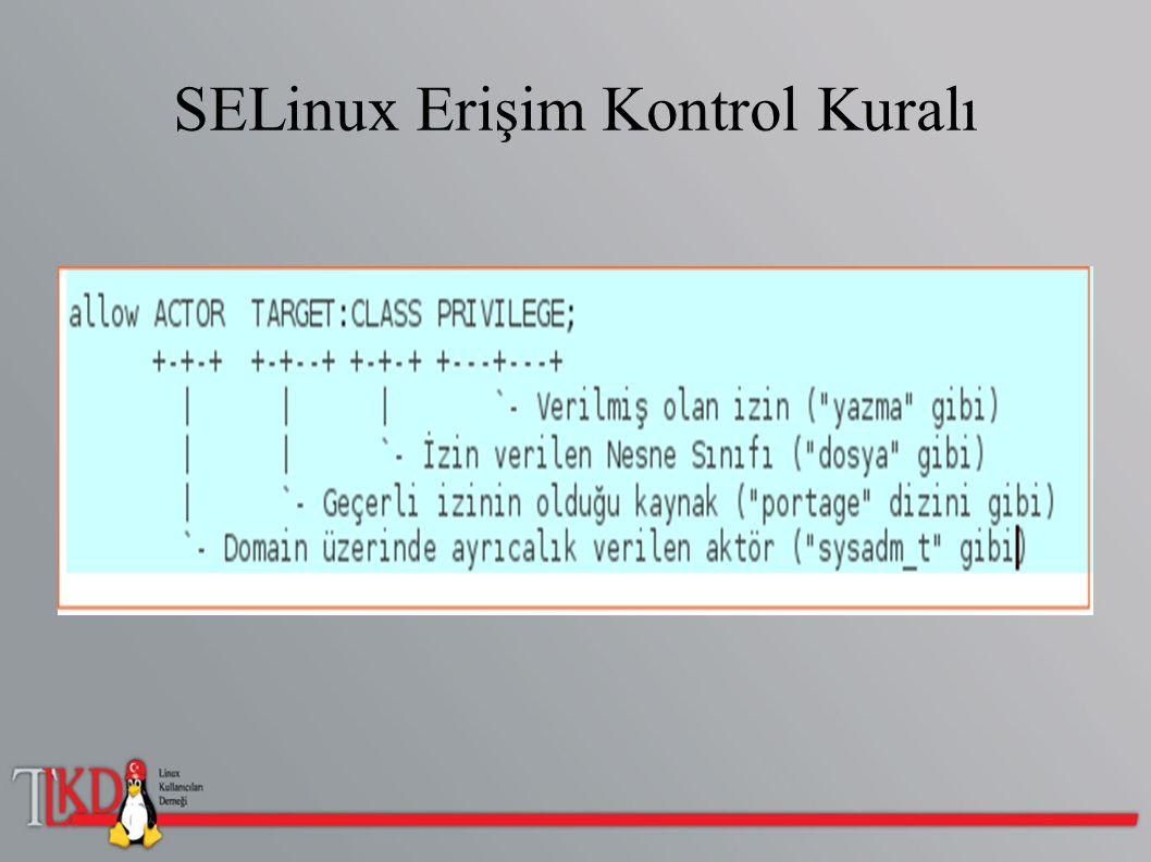 SELinux Erişim Kontrol Kuralı
