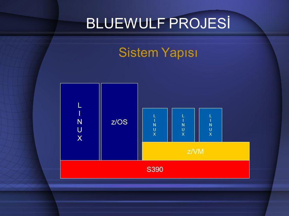 BLUEWULF PROJESİ DİSK YAPISI / 300 MB / 300 MB /usr 1.3 GB /usr 0 MB Swap 512 MB Swap 512 MB BWULF0 0 BWULF0 1